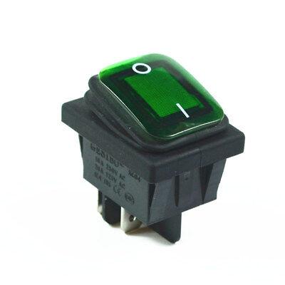 Green Waterproof Rocker Switch 4pin 2 Position 16av250ac 20aac125v