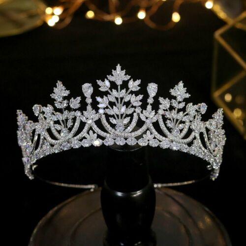 Tiara Crystal Crown Hair Bridal Classic Headwear Cubic Zirconia Gift For Women