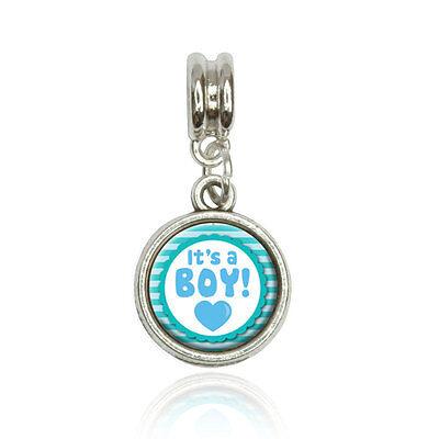 It's A Boy Baby Euro European Italian Style Bracelet Bead Charm
