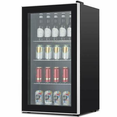 3.1 Cu.ft. Beverage Soda Beer Bar Mini Fridge 120-can Cooler Stainless Steel