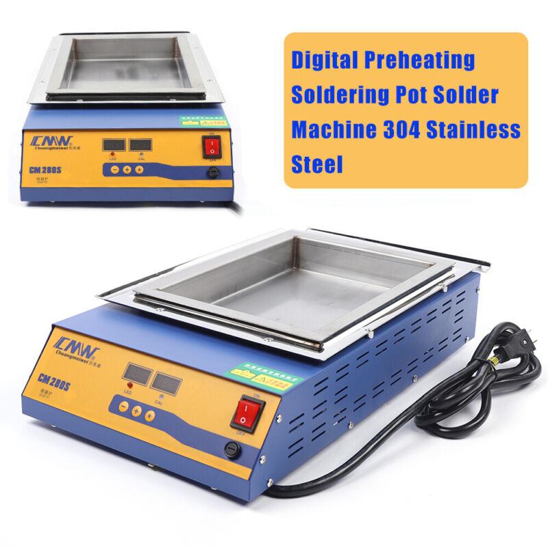 2KW 110V Lead-Free Titanium Tin Pot Dual PID Control Digital Melting Tin Furnace
