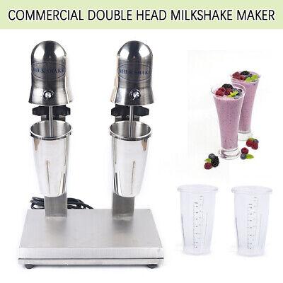 110v Commercial Doul Head Milkshake Maker Mixer Stainless Steel Blender 560w