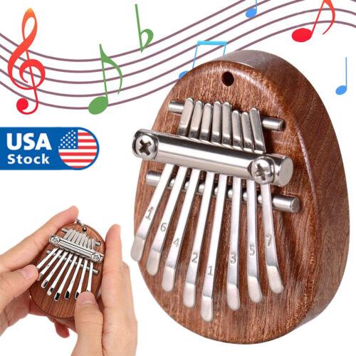 8 Key Mini Kalimba Thumb Piano Finger Percussion Keyboard Pocket Musical Tool US Hand Percussion