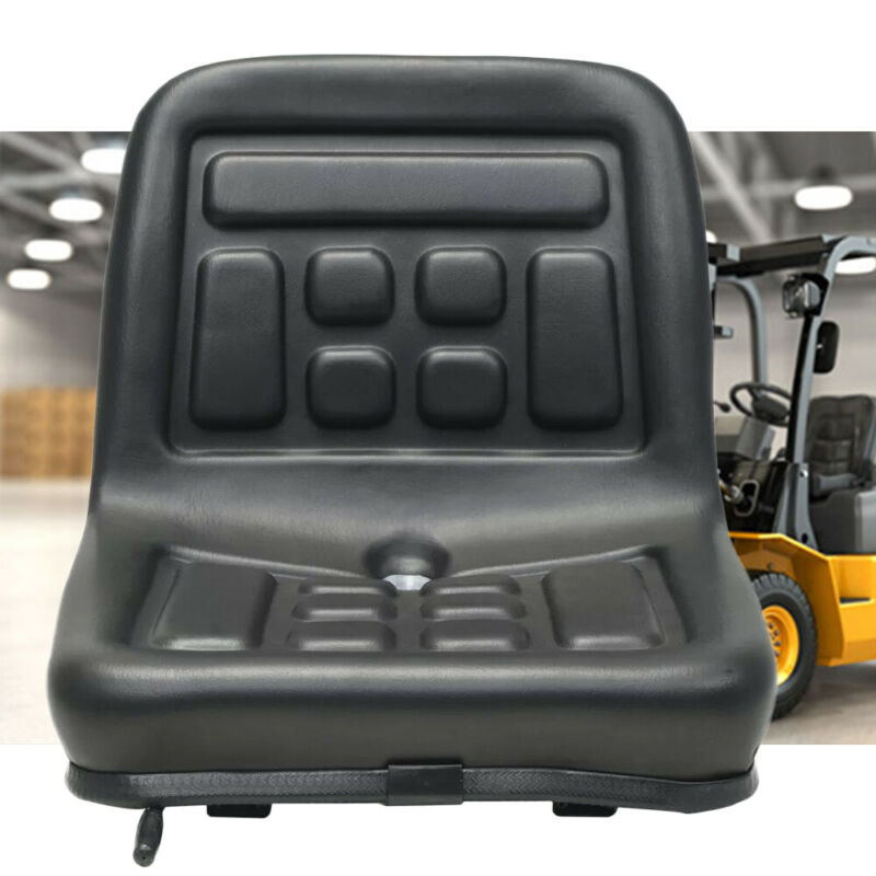 Slidable Black Tractor Seat With a drain hole water-resistant Steel frame & PVC