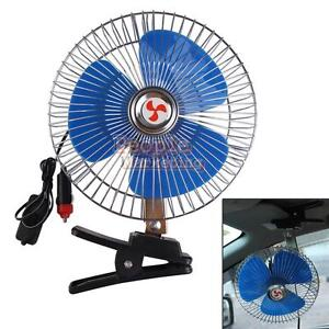 8'' 12V Auto Car Vehicle Dash Oscillating Cooling Fan Cooler With Clip Switch #P