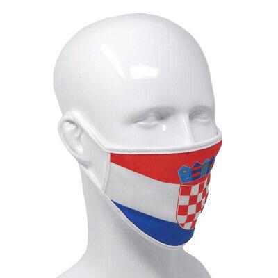 Gesichtsmaske Kroatien waschbare Stoffmaske mit Filter Mundmaske Atemmaske
