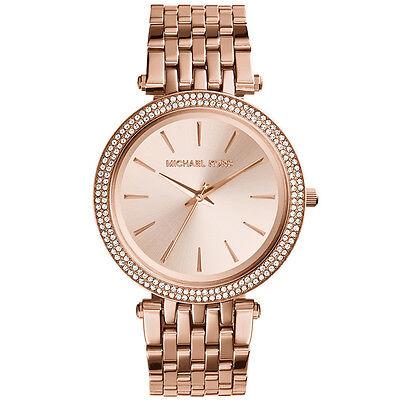 MICHAEL KORS Ladies Watch MK3192 Rose Goldtone Bracelet Watch Retail$250
