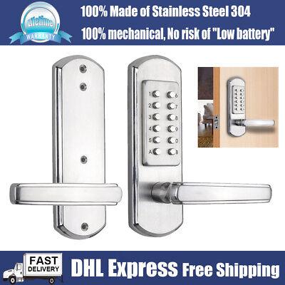 Mechanical Door Lock Keyless Keypad Digital Code Password Entry Handle Door knob