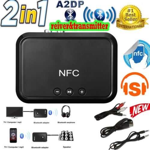 Wireless Bluetooth 4.1 RCA 3.5mm Speaker NFC Stereo Audio Music Receiver Adapter