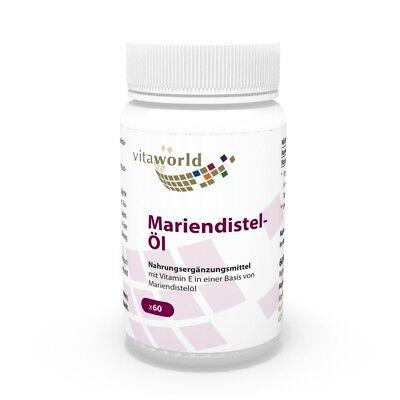 Olio di cardo mariano 1000mg 60 Capsule Vita World Produzione farmacia Germania