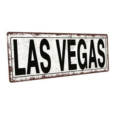 Las Vegas Metal Sign; Wall Decor for Home and Office - Las Vegas Decorations
