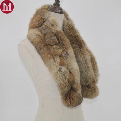 2018 Women Real Rabbit Fur Scarf 100% Natural Rabbit Fur Warm And Soft Genuine Rabbit Fur
