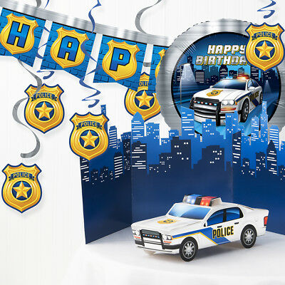 Police Birthday Party Decorations Kit (Police Party Decorations)