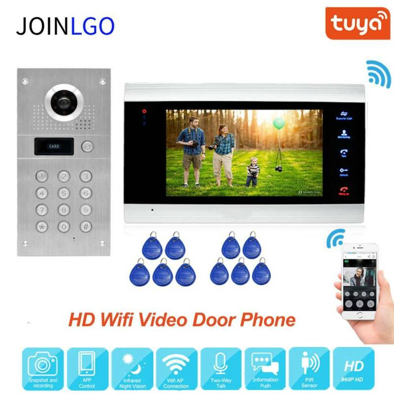 Remote Unlock WiFi IP Video Door Phone Intercom Code Keypad RFID Camera Doorbell