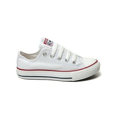 CONVERSE All Star Chuck Taylor Low Top WHITE YOUTH 3J256 Unisex Canvas Sneakers