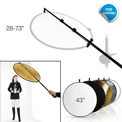 """5 Color Collapsible Reflectors 73.5"""" Photography Photo Studio Holder Bar"""