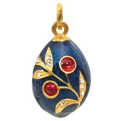 Crystal Egg Pendant - Russian Faberge Egg Pendant Made with Swarovski Crystals Made in Russia
