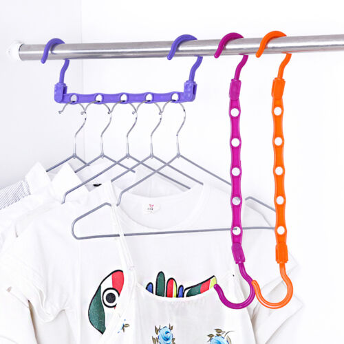 Multi Function Clothes Hangers Space Saving Closet: 2X Multi-Function Space Saver Wonder Magic Clothes Hanger