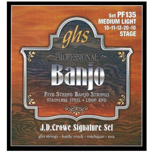 GHS PF135 JD Crowe Signature 5-String Stainless Steel Banjo Strings