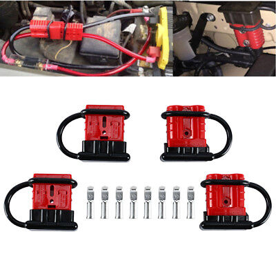 4 Pack 6-8 Gauge Battery Quick Connect/Disconnect Wire Harness Plug