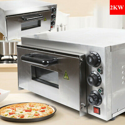 Used Single Deck Stainless Steel Pizza Oven Electric Pizza Maker 2kw Damaged Us