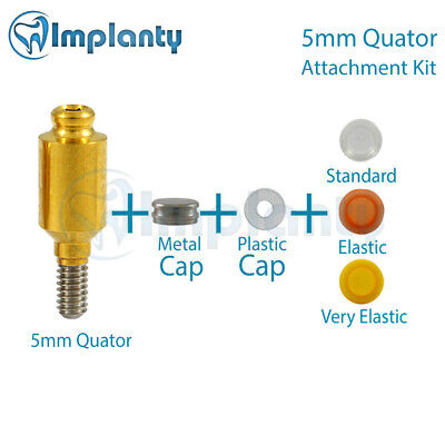 Quator Attachment 5mm Kit Silicone Caps Abutment Dental Implant Internal Hex