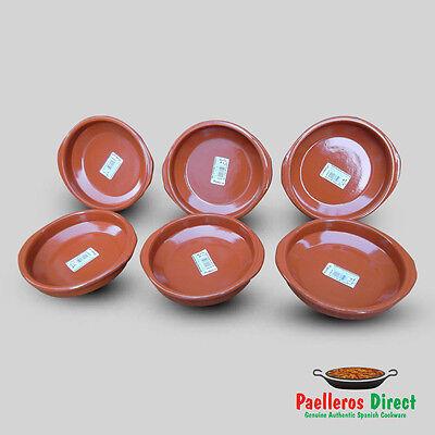 Set of 6 x 16cm Spanish Terracotta Tapas Dishes / Cazuelas