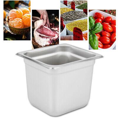 6-pan 16 Size 6 Deep Steam Table Pans Bain-marie Catering Food Warmer Buffet