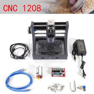 Usb 2 Axis 1208 Mini Cnc Router Wood Engraving Machine 3d Print Pcb Milling 12v