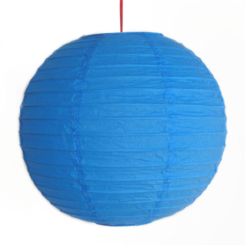 "2 of 12"" Chinese Blue Paper Lanterns"