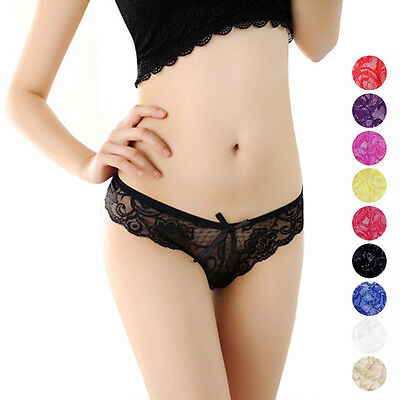 Sexy Newest Women V-string Briefs Lace Panties Thong G-string Lingerie Underwear