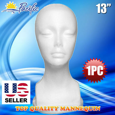 13 Styrofoam Foam Mannequin Manikin Head Display Wig Hat Glasses 1pc