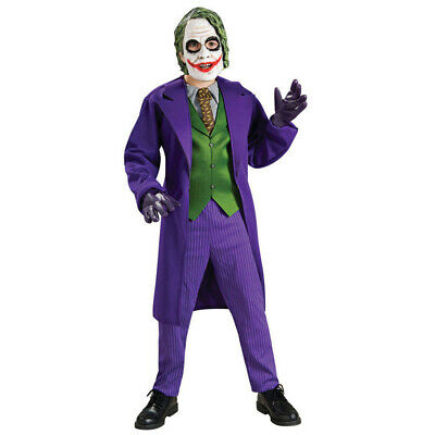Batman Kids Costume (Joker Costume Boys Deluxe Kids Child Youth Batman Villain)