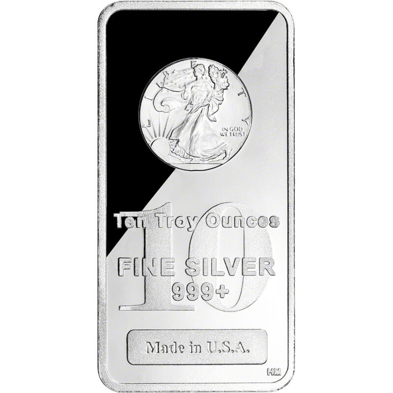 10 oz. Highland Mint Silver Bar - Walking Liberty Design .999+ Fine