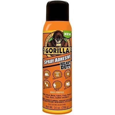 Gorilla Adhesive Spray Nozzle Mist Heavy Duty Permanent Photo Safe 14oz Clear