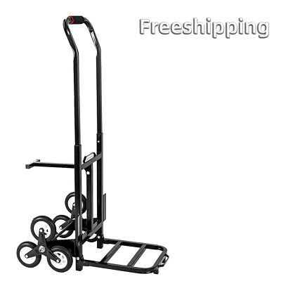 Heavy Duty Stair Climbing Cart 420 Lbs Capacity Hand Truck With 6 Backup Wheels