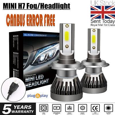 2x H7 LED Headlight 280W CSP Chip Bulb Kit Canbus Error Free 30000LM White 6000K