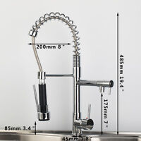 Uk Hot Sell Mixer Monobloc Taps Pull Out Spray Head Chrome Finish Kitchen Sink - unbranded - ebay.co.uk