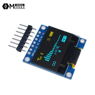 3-5v 0.96 Spi Serial 128x64 Oled Lcd Led Display Module Blue Yellow For Arduino