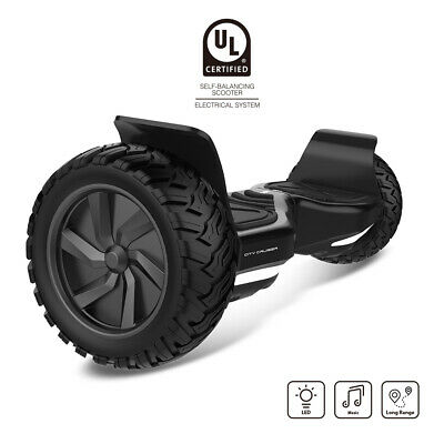 "City Cruiser, 8.5"" Scooter Hoover Board with UL2272 Certified Wheels LED Lights"