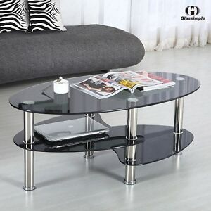 modern glass coffee table | ebay