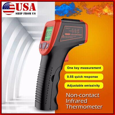 Non-Contact Thermometer Temperature Gun Digital IR Laser Infrared Pyrometer