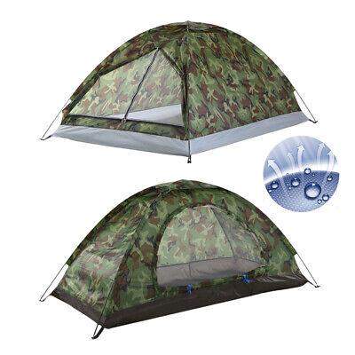 1~2 PersonenTunnelzelt Campingzelt Zelt Wurfzelt Ultraleicht wasserdicht Angel