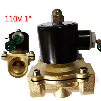 Electric Solenoid Valve 2-way Normally Closed 1 Npt Inlet Water Air Gas Fuel Us