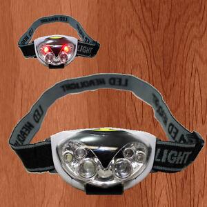 NEW LED HEAD LAMP TORCH LIGHT HANDS FLASHLIGHT ~ FREE HEADBAND ~ FREE SHIPPING