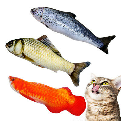Plush Creative 3D Carp Fish Shape Cat Toy with Catnip Chewing Play Scratch Toy - Plush Fish
