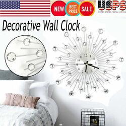 Luxury Wall Clock Decorative Art Big Watch Modern Bead Design Home Quartz Decor