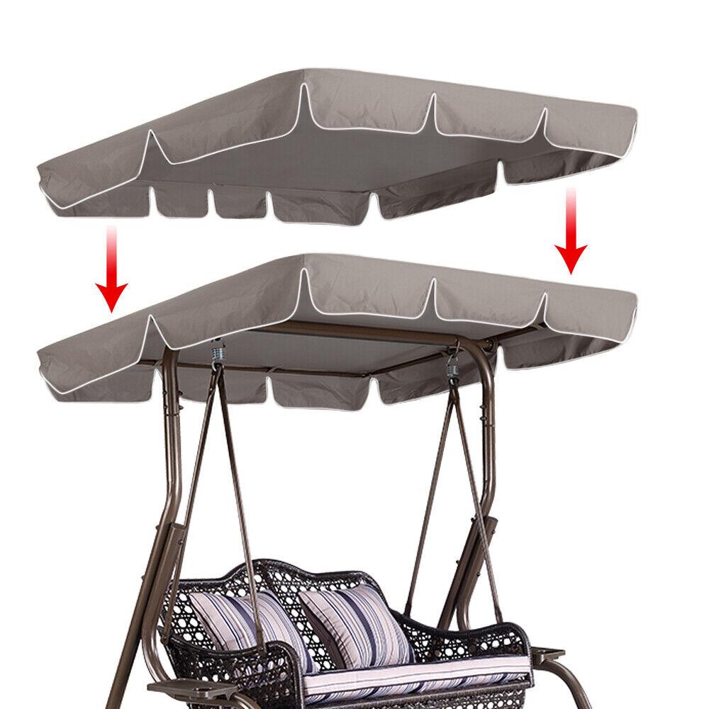 New Outdoor Swing Top Sunshade Cover Canopy Replacement Garden Rainproof  US