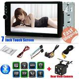 """Double 2DIN 7"""" HD Car Stereo Radio Player MP5 FM Bluetooth USB/TF Aux In Camera"""
