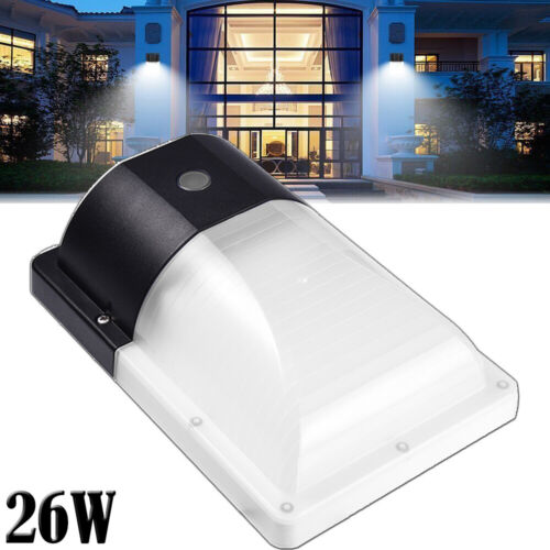 Outdoor Dusk to Dawn Photocell LED Security Light 26W Wall M